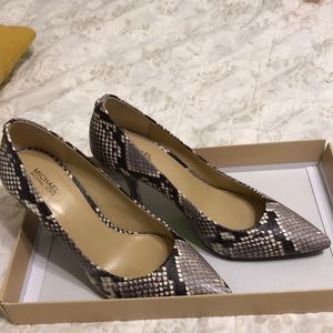 Michael Kors snake print high heel pump